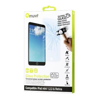 Muvit Proteção de Ecrã Vidro Temperado para iPad Mini