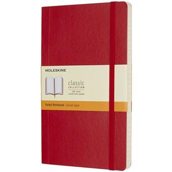 Caderno Pautado Moleskine Soft Grande Vermelho