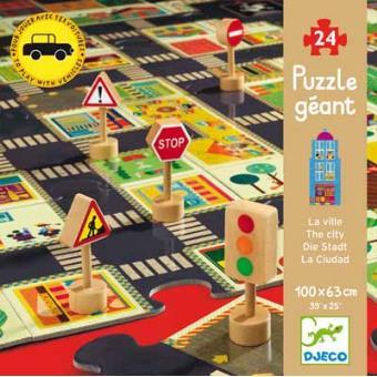 A Cidade - Puzzle Gigante 24 Peças