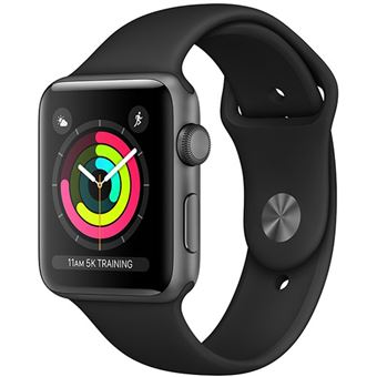Apple Watch Series 3 38mm - Cinzento Sideral | Bracelete Desportiva - Preto
