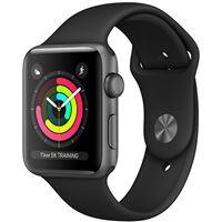 Apple Watch Series 3 38mm - Cinzento Sideral | Bracelete Desportiva - Preto