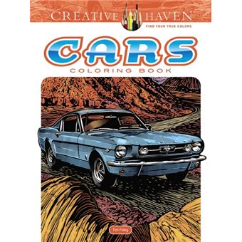 Creative haven cars coloring book