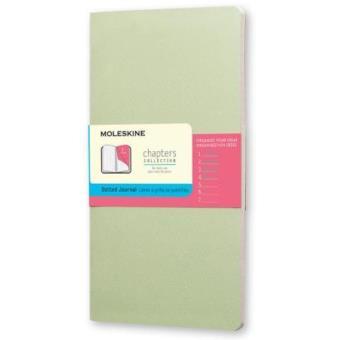 Moleskine: Caderno Chapters Slim Pontilhado Grande Verde