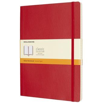 Caderno Pautado Moleskine Soft XL Vermelho