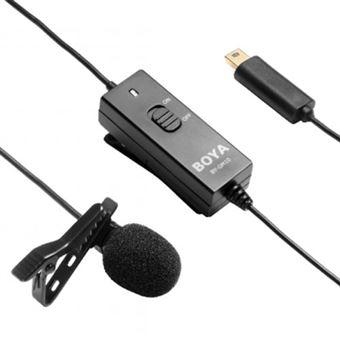 Microfone de Lapela Boya BYGM10 para GoPro