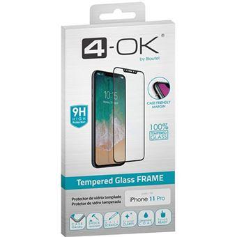 Película Ecrã Vidro Temperado 4-OK Glass Frame para iPhone 11 Pro