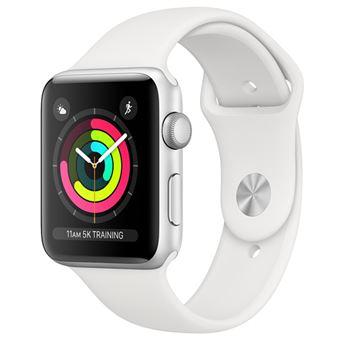 Apple Watch Series 3 42mm - Alumínio Prateado | Bracelete Desportiva - Branco