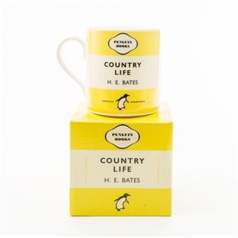 Caneca Country Life Penguin Books - Amarela