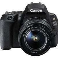 Canon EOS 200D + EF-S 18-55mm f/4-5.6 DC III - Preto