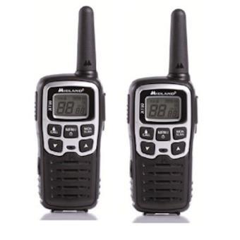 Midland XT50 24channels 446.00625 - 446.0937MHz Preto, Cinzento rádio two-way