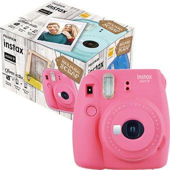 Fujifilm instax mini 9 - Rosa Flamingo + Moldura Scrap + 10 Foto