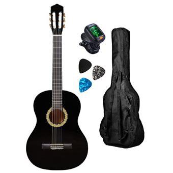 Pack Guitarra Clássica GEMMA P C Standard Black 4/4
