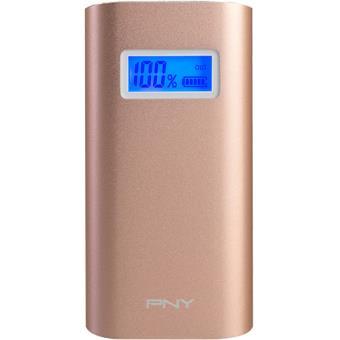 Power Bank PNY Aluminum Digital Colors 5200mAh - Rosa Dourado