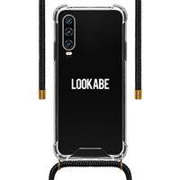 Capa LOOKABE para Huawei P30 - Transparente   Fita PretoCapa LOOKABE para Huawei P30 - Transparente   Fita Preto