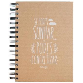 Caderno «Se Podes Sonhar, Podes Concretizar» Liso A5