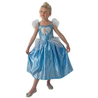 Disfarce Cinderela Coração - Tamanho M 5 a 6 Anos