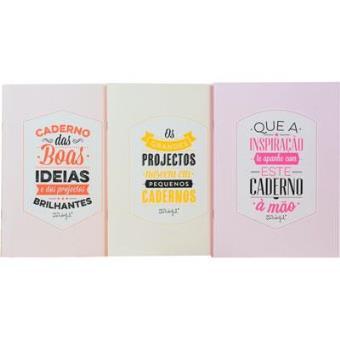 Conjunto 3 Cadernos «Energia Para as Melhores Ideias» Liso A5