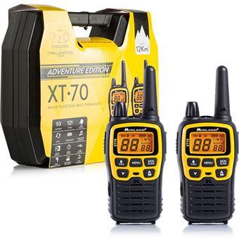 Midland XT70 Adventure 93channels 433.075 - 446.09375MHz Preto, Amarelo rádio two-way