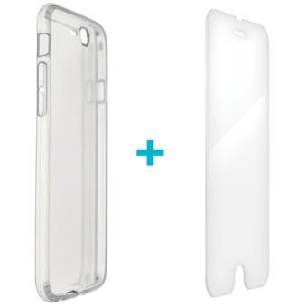 Capa + Vidro Temperado 4-OK para iPhone 7 - Transparente