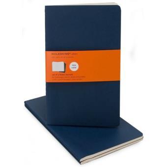 Moleskine: Caderno Pautado Grande Azul
