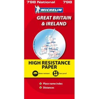 Gra-Bretanha/Irlanda Mapa Michelin Alta Resistência 798