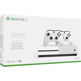 Consola Xbox One S 1TB + 2 Comandos sem Fios