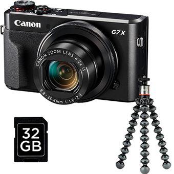Vlogger Kit Canon PowerShot G7 X Mark II + Cartão SD + GorillaPod 500