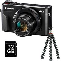 Vlogger Kit Canon PowerShot G7 X Mark II + Cartão SD + GorillaPod 500