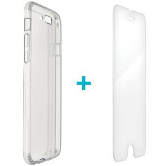 Capa + Vidro Temperado 4-OK para iPhone 7 Plus - Transparente