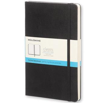 Caderno Pontilhado Moleskine Grande Preto
