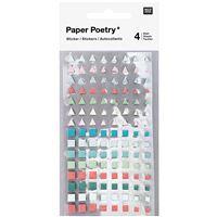 Etiquetas Adesivas Do Art: Triang e Quadrados