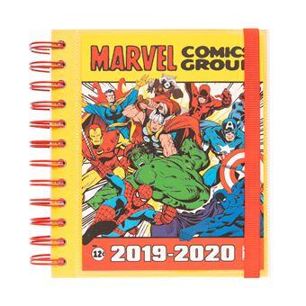 Agenda Escolar Mensal 2019-2020 Marvel