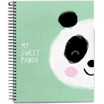 Caderno Quadriculado Jordi Labanda - Panda Green A5