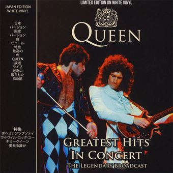 Queen: Greatest Hits in Concert - LP White Vinil