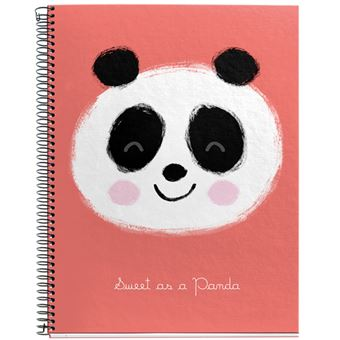 Caderno Pautado Jordi Labanda - Panda Coral A4