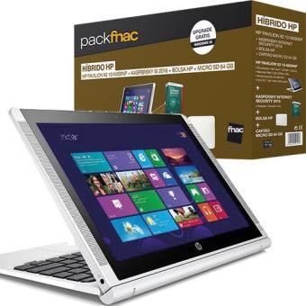 Pack Fnac HP Pavilion x2 10-n000np + Kaspersky IS + Bolsa HP + Micro SD 64GB