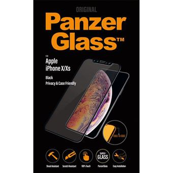 Película Ecrã Vidro Temperado Panzerglass Case Friendly para iPhone X/XS - Preto