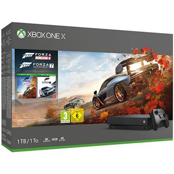 Consola Xbox One X - 1TB - Preto + Forza Horizon 4 + Forza Motorsport 7
