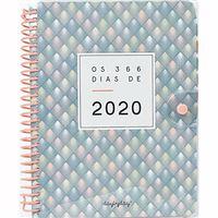 Agenda 12 Meses 2020 Day by Day Os 366 dias 2020 A5 - Cinza