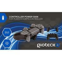 Gioteck Black Controller Power Skin PS4
