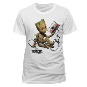 T-Shirt Guardians of the Galaxy: Groot & Tape - Tamanho L