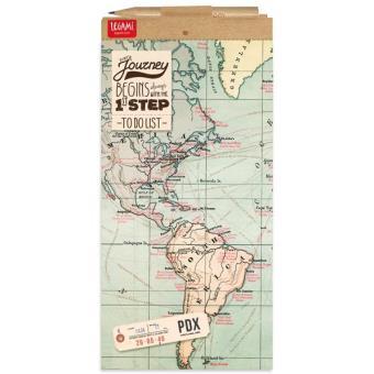 Bloco de Notas Magnético - World Map
