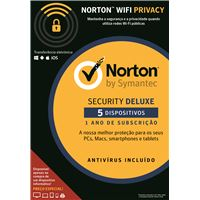 Norton Security Deluxe - 5 Dispositivo - 1 Ano