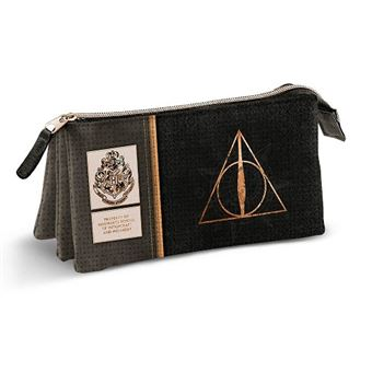 Estojo Escolar Triplo Harry Potter - Deathly Hallows