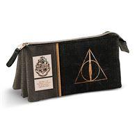 Estojo Escolar Triplo Harry Potter - Deathly Hallows