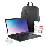Pack Fnac Computador Portátil Asus E410MA-N4DHDAO1 + Mochila Asus + Rato Asus + Microsoft 365 Pessoal 1 Ano