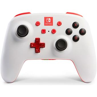 Comando sem fio PowerA para Nintendo Switch - Branco | Vermelho