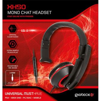 Gioteck XH50 Red Wired Mono Headset Xbox One/PS4/PC