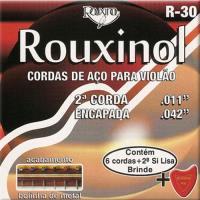 Jogo Cordas Guitarra Aço 2ª Encapada Bola Rouxinol