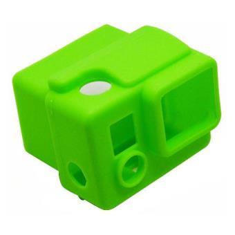 New Mobile Capa Silicone Verde para GoPro HERO3+